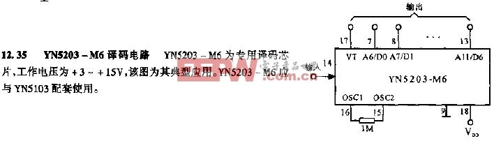 YN5203-M6译码电路图