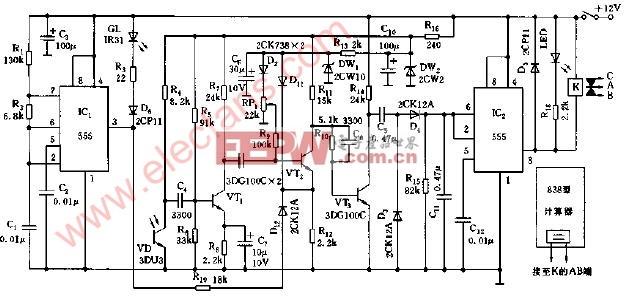 生产线自动计数装置电路图