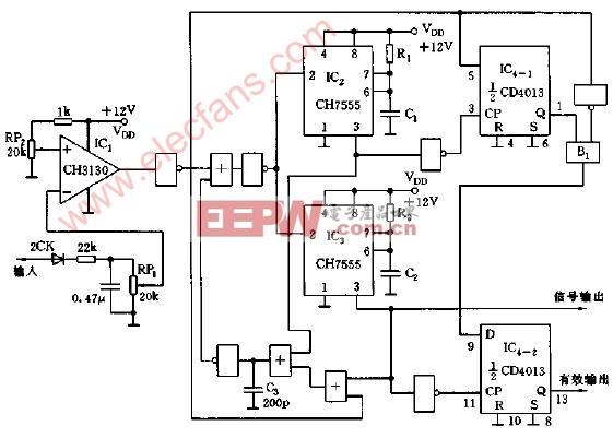 给定 电路图 检测 时限 幅值 信号/信号幅值在给定时限内的检测电路图