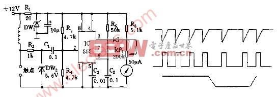 检测车速的汽车路码表电路图-汽车电子电路图-电子