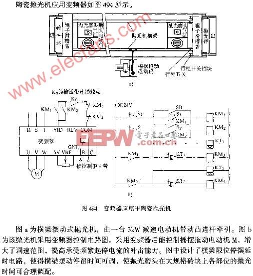 陶瓷 电路图 抛光机 应用于 变频器/变频器应用于陶瓷抛光机电路图