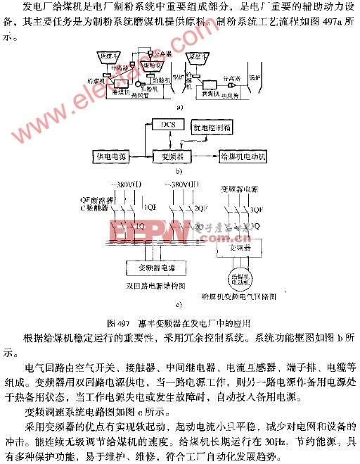 惠丰变频器在发电厂中的应用电路图