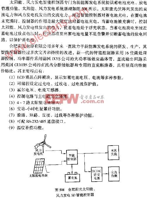 合肥阳光太阳能风力发电SD智能控制器电路图