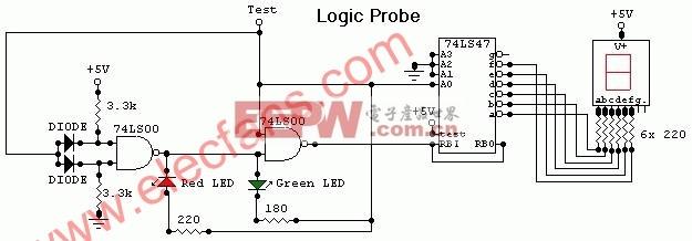 逻辑探针电路图,Logic Probe