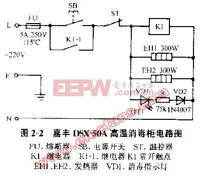 嘉丰DSX-50A高温消毒柜电路图