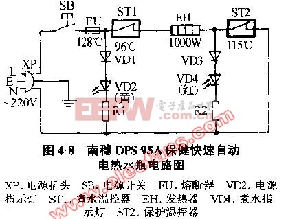 南稳DPS-95A保健快速自动电热水瓶电路图