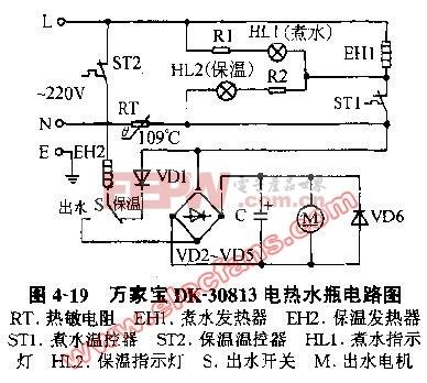 万家宝DK-30813电热水瓶电路图