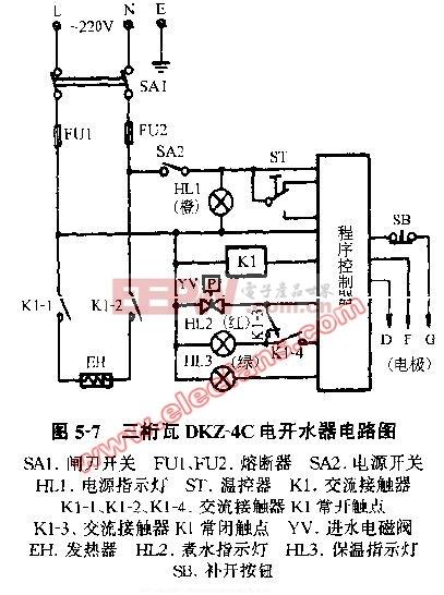三桁瓦DKZ-4C电开水器电路图