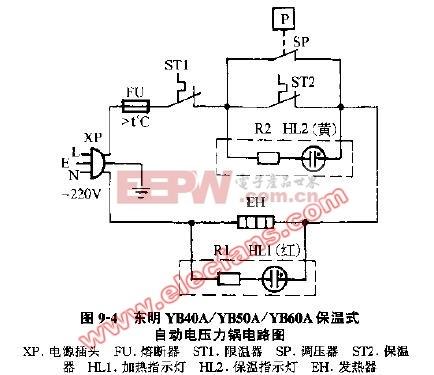 东明保温式自动电压力锅电路图
