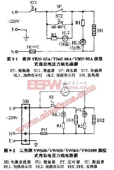 三角牌电压力锅电路图