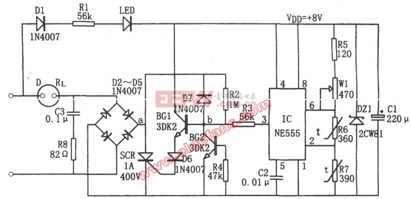 吊扇温度控制电路图图片