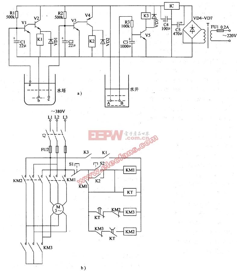 自动 电路图 农用 供水/农用自动供水器电路图(1)