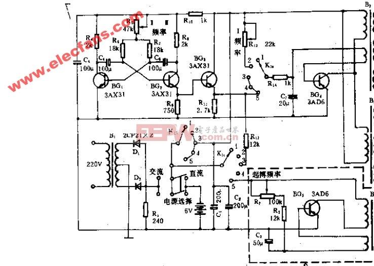 G-6805型治疗机电路原理图