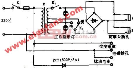 ECS-2型电磁旋转磁疗机电路原理图