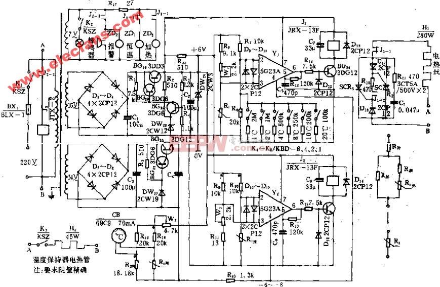YXO-WY-21-000型高压蒸气消毒器电路原理图