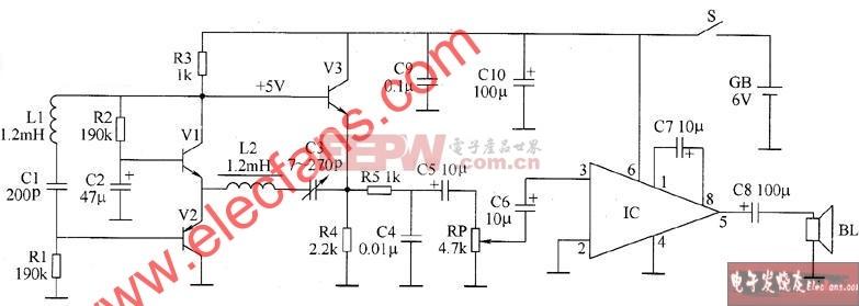 地下 金属探测器电路图 电路图 电子产品世界高清图片