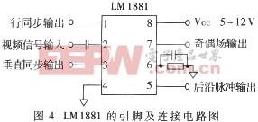 同步信号的提取及行场计数器电路