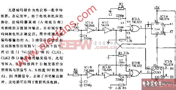 光栅编码器输出脉冲抖动去噪电路