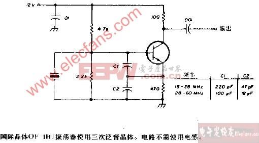 国际晶体OF-1HI振荡器电路图