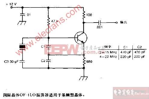 国际晶体OF-1LO振荡器电路图