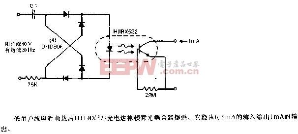 低用户线负载振铃检测器电路图
