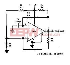 字控制的非稳态多谐振荡器电路图 -多谐