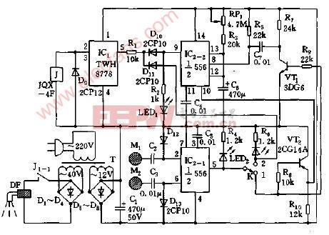 手触式定时供水控制阀电路图