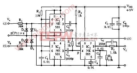 电力系统用频率、相位检测接口板电路图