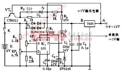 自控型单板机不间断电源电路图