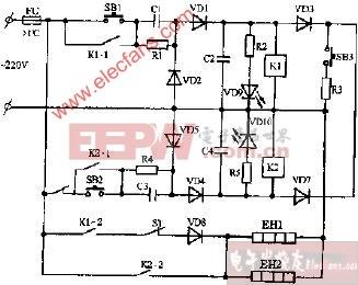 容声DX-60A双温电子消毒柜电路图