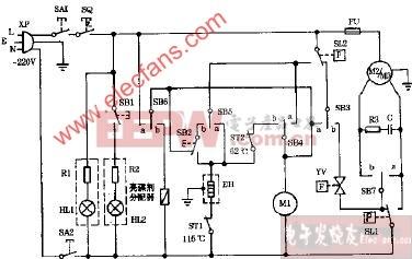 WP5B全自动洗碗机电路图1图片
