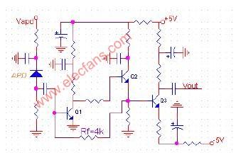 45MB/S光通信系统接收机前端电路