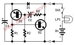双线灯闪光灯电路--Two-wire Lamp Flashe