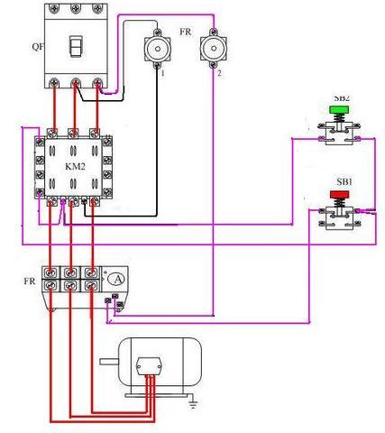 自锁电路实物接线图
