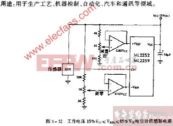 工作电压15%Vcc≤VXDH≤85%Vcc电位计传感器电路
