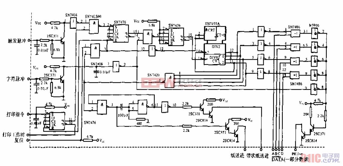 EP-101记录打印机的接口电路