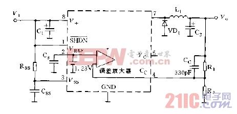 MAX750,758的输出电压调节方法电路图.jpg