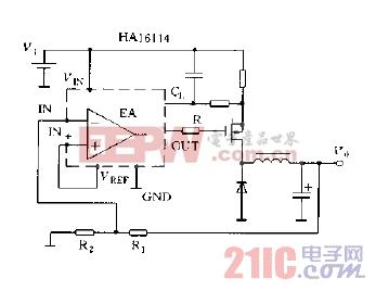 直流变换器输出电压的设定方法正输出电压情况电路图.jpg