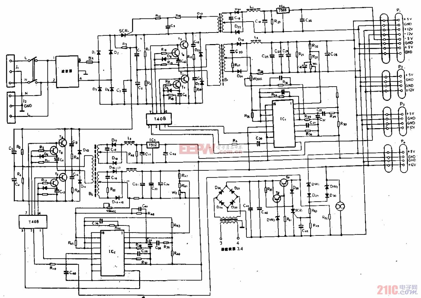 GW-0520CH-PS开关电源电路图