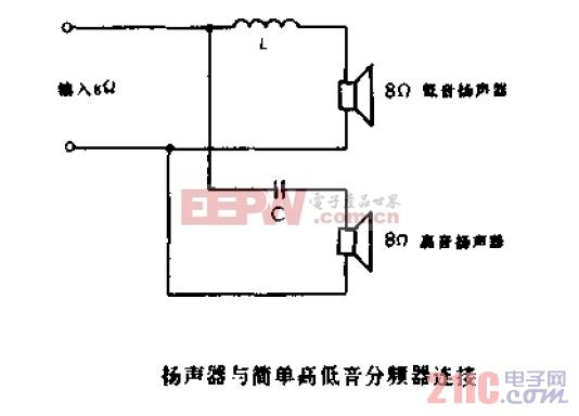 扬声器与简单高低音分频器接连.jpg