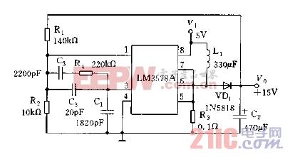 LM3578A用做升压稳压器电路图.jpg