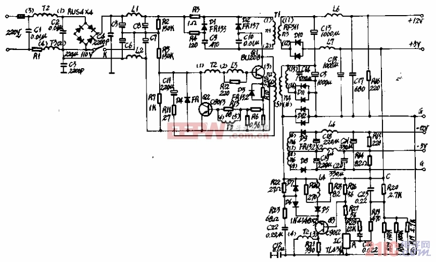 Apple(蘋果)机電源電路图