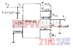 MAX663系列输出电压的设定方法电路PMOS直接输出时有过流保护电路图.jpg