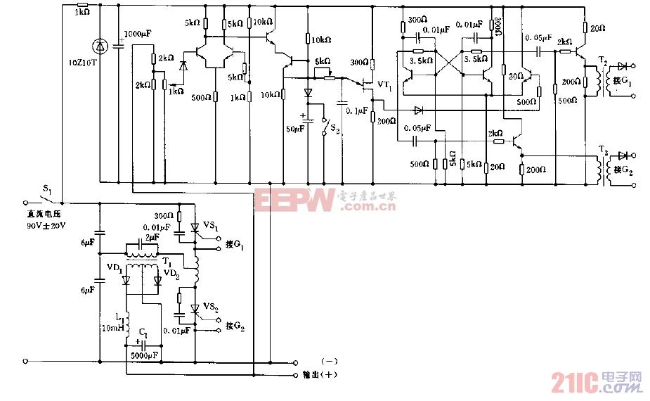 采用晶闸管构成的输出24V,8A的稳压电源电路图.jpg