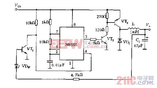 NE555构成的开关式稳压电源电路图.jpg