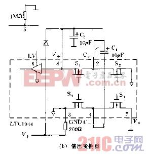 LTC1044应用实例倍压变换器