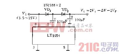 LT1054构成的倍压变换器电路图.jpg