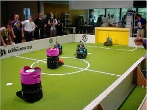 Autonomous Soccer playing Robots using cognition systems for Ambient Awareness