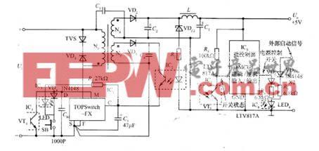 由MCU控制的开关电源电路图