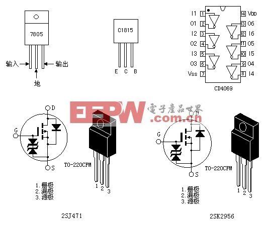 采用普通电源变压器的mos场效应管逆变器